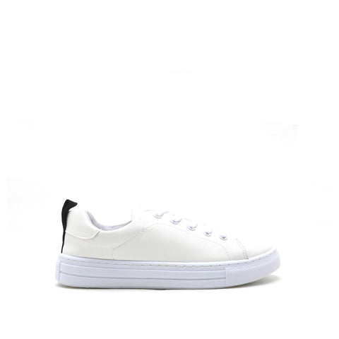 REBA-61B White Love and Peace Sneaker