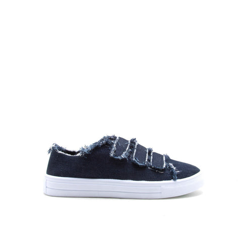 REBA-70B Blue Denim Triple Strap Sneaker