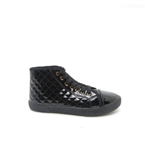 REEVE-01 Black Quilted High Top Sneaker
