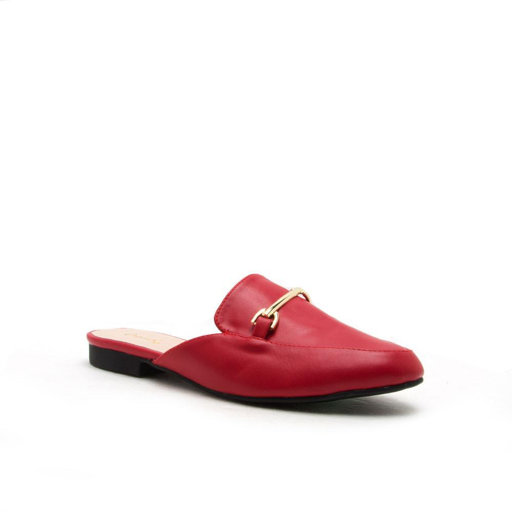 Regent-02 Red Mule Loafer