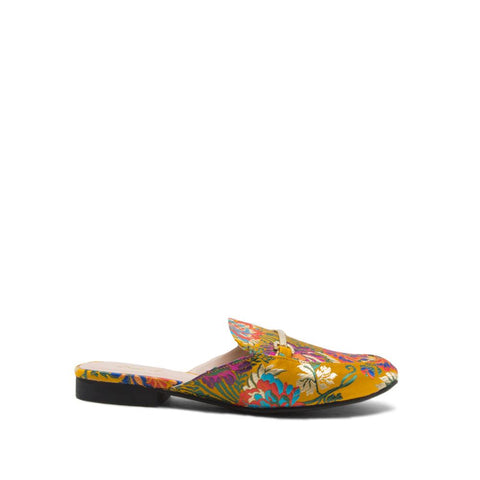 Regent-02 Yellow Multi Mule Loafer