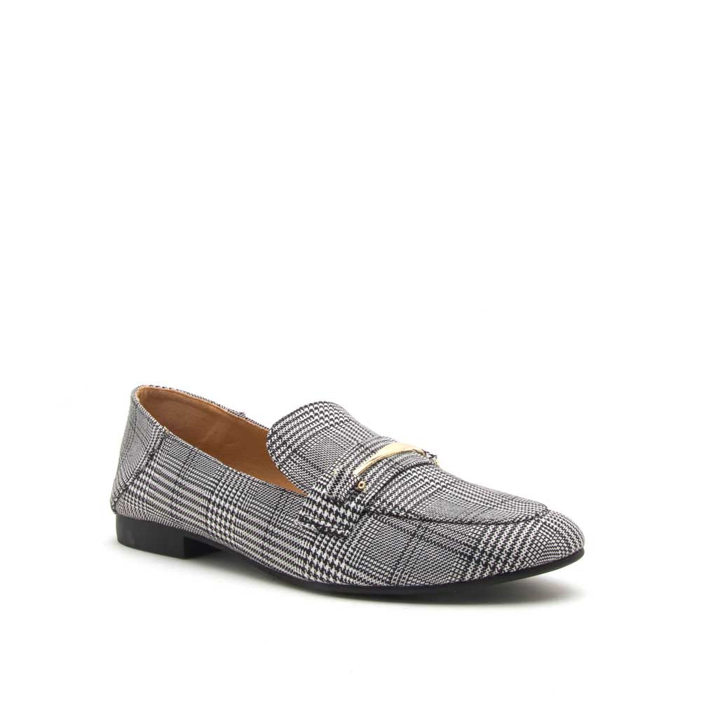 Regent-65 Black White Loafer