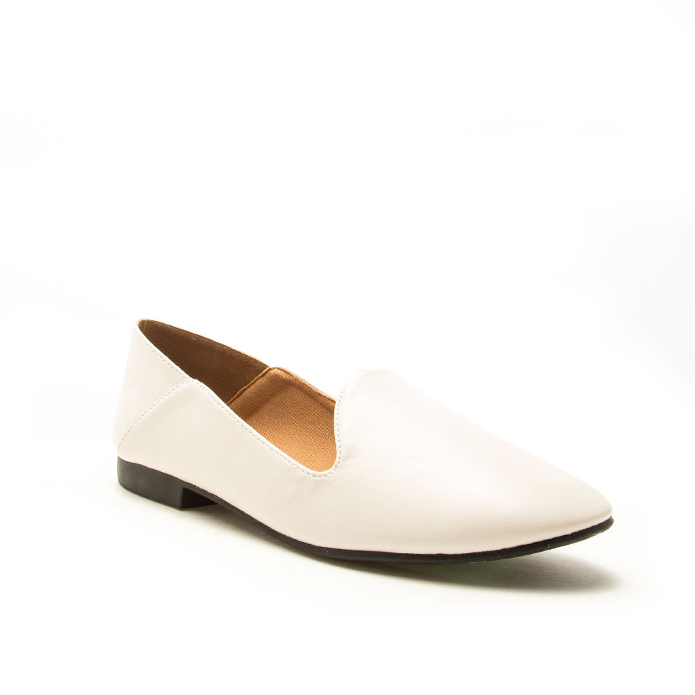 Regent-91X Off White Loafer Ballerinas
