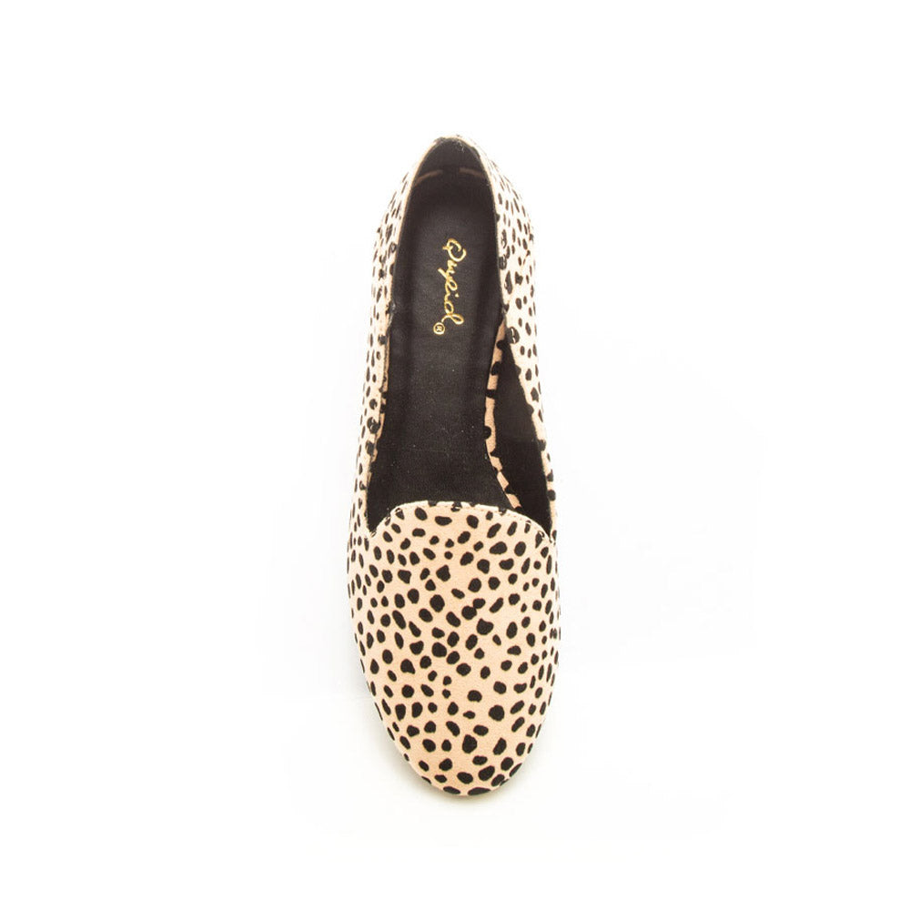 Regent-91X Tan Black Leopard Loafer Ballerinas
