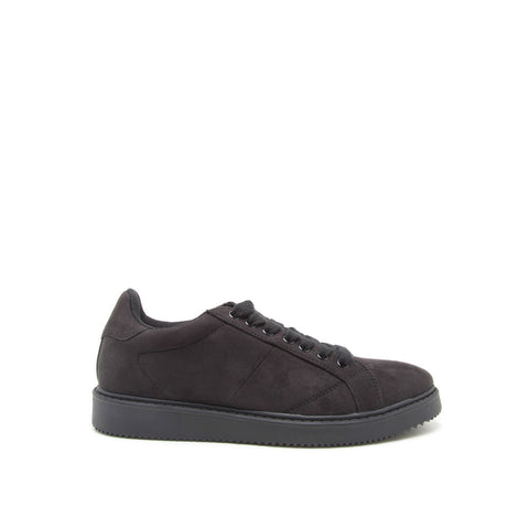 REGGIO-01 Black Suede Lace Up Sneakers