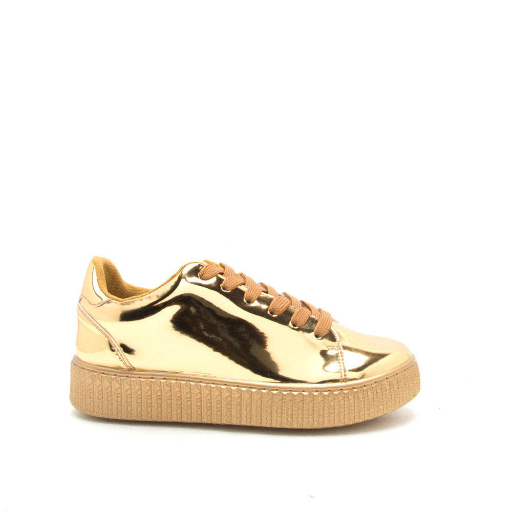 REMATCH-03A Gold Sneaker Creeper