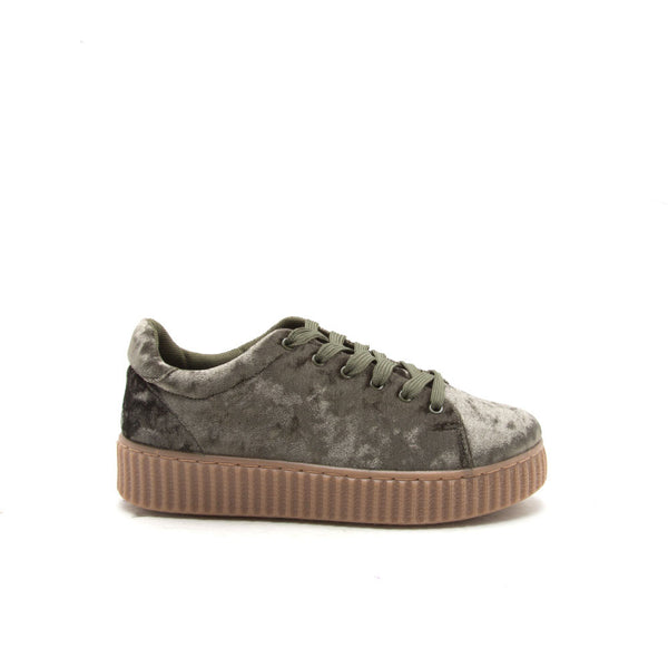 REMATCH-03A Khaki Velvet Sneaker Creeper