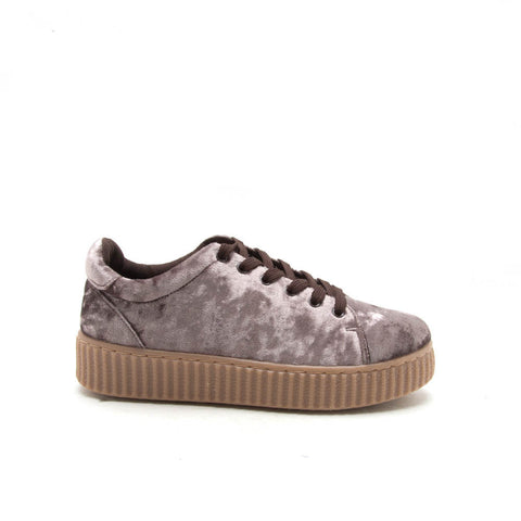 REMATCH-03A Mauve Velvet Sneaker Creeper