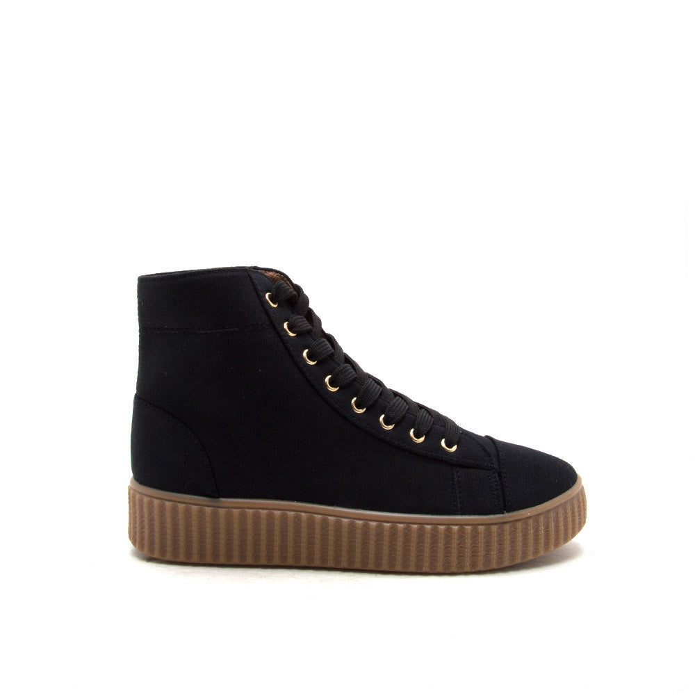 REMATCH-10A Black Canvas High Top Sneaker