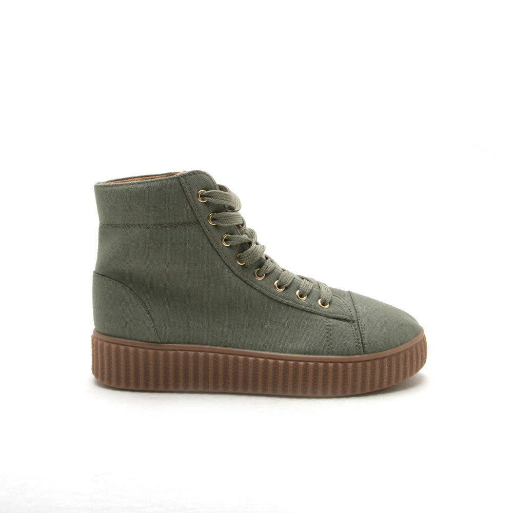 REMATCH-10A Khaki Canvas High Top Sneaker