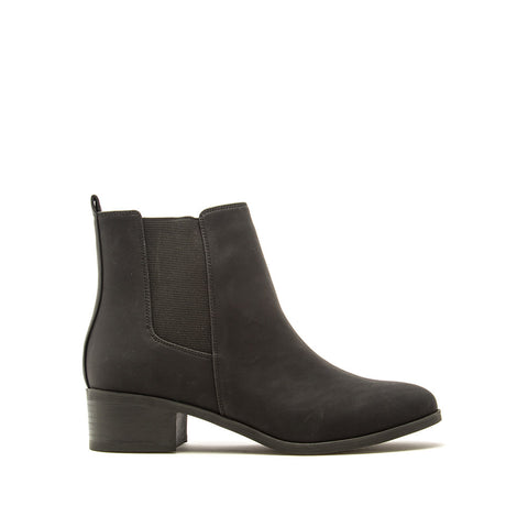 Repeat-01 Black Nubuck Booties