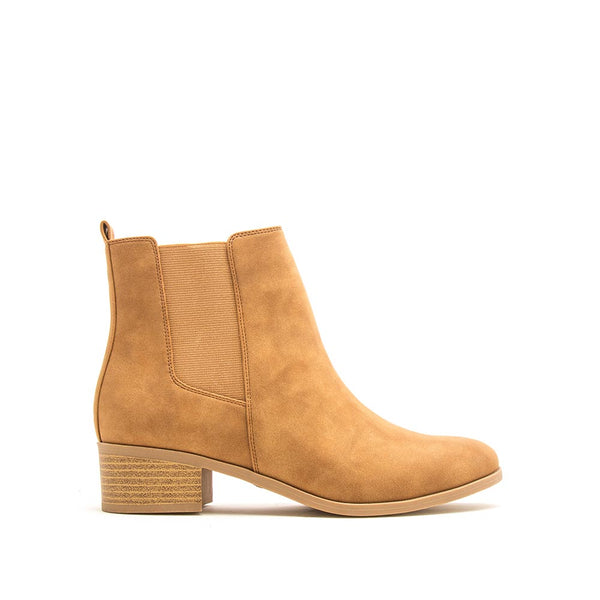 Repeat-01 Camel Distressed Booties