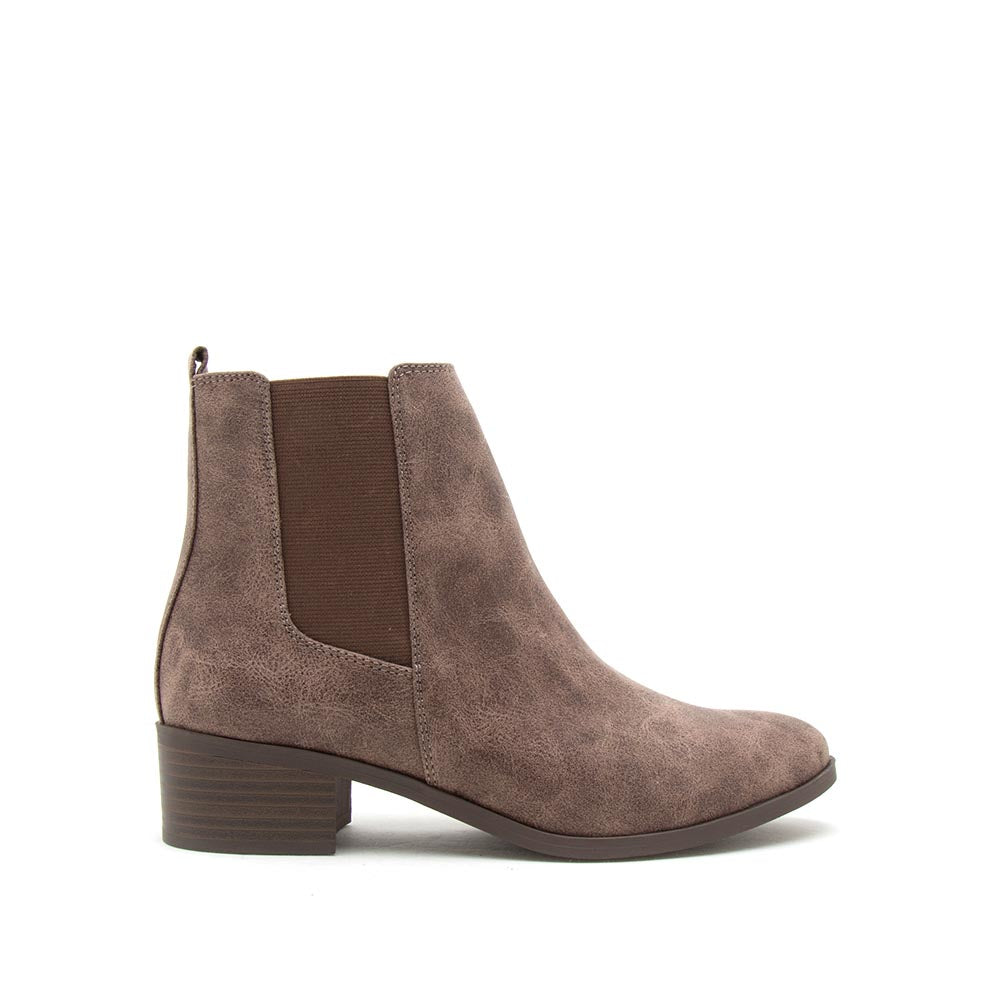 Repeat-01 Light Brown Distressed Booties