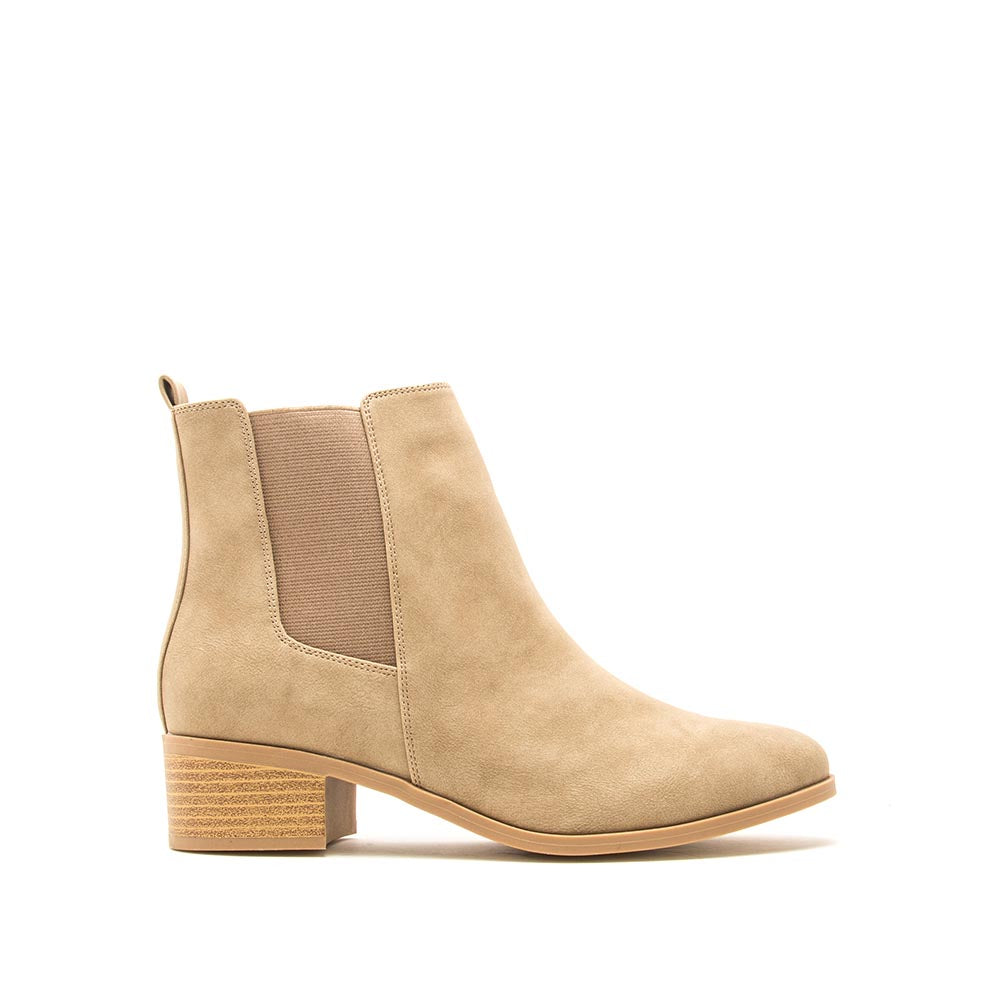 Repeat-01 Warm Taupe Distressed Booties