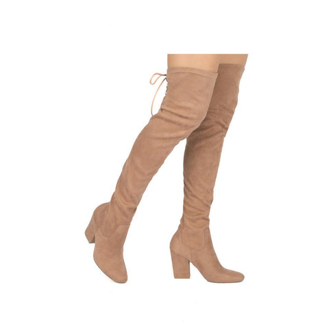Rima-03 Taupe Over The Knee Boot