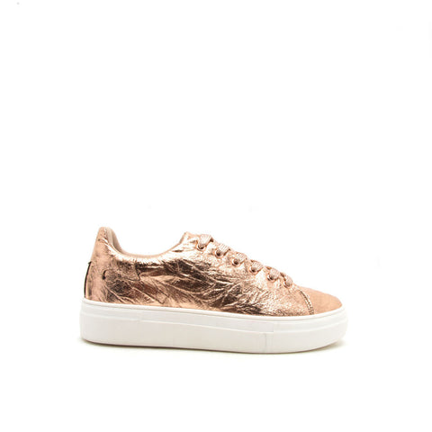 Rincon-01 Rose Gold Metallic Lace Up Sneaker