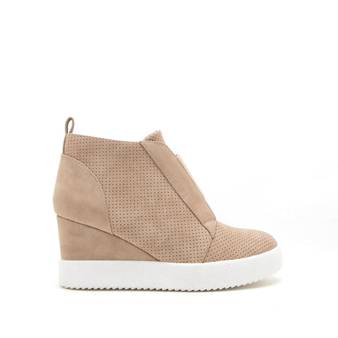 Rodina-01 Taupe Wedge Sneakers
