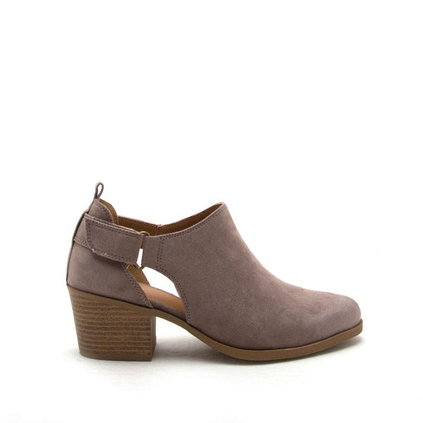 ROVER-26 Taupe Oil Side Strap Ankle Bootie