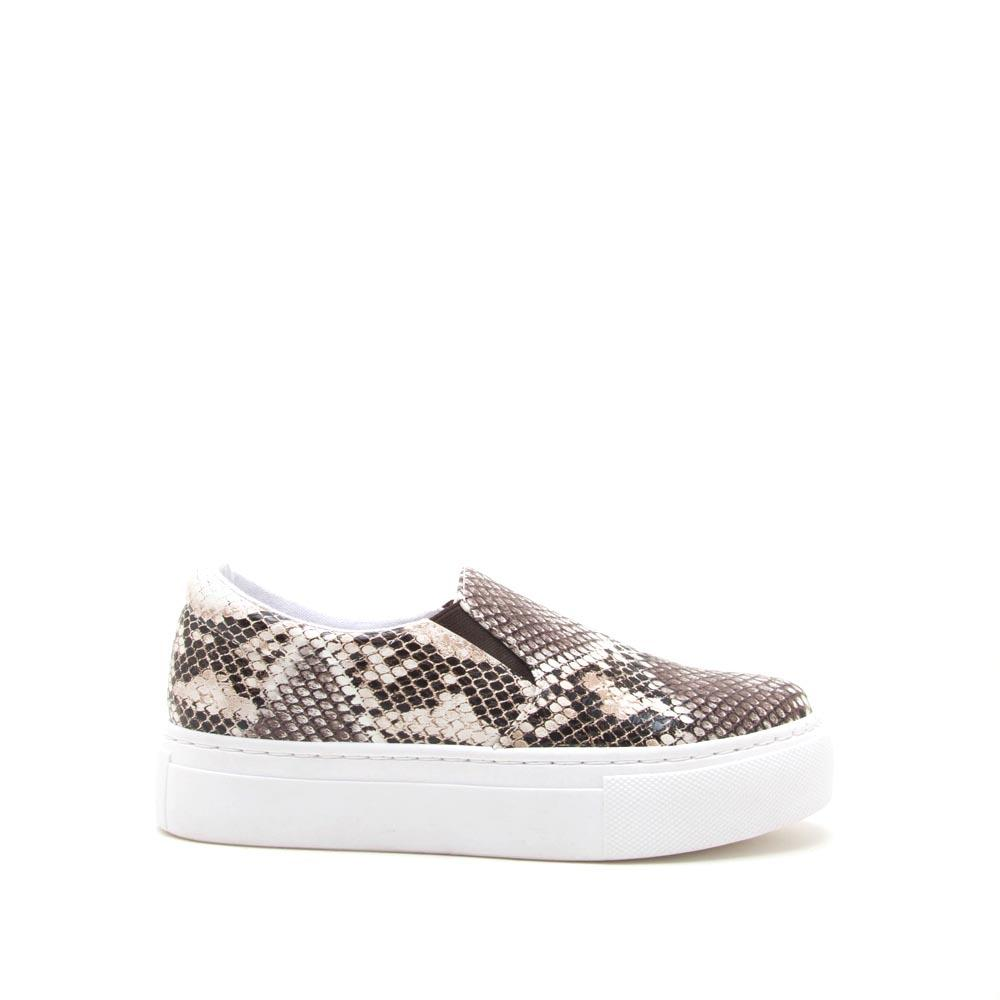 Royal-02B Brown White Snake Step In Sneakers