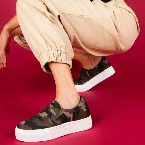 Royal-02B Khaki Camo Step In Sneakers