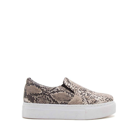 Royal-02C Beige Brown Snake Step In Sneakers
