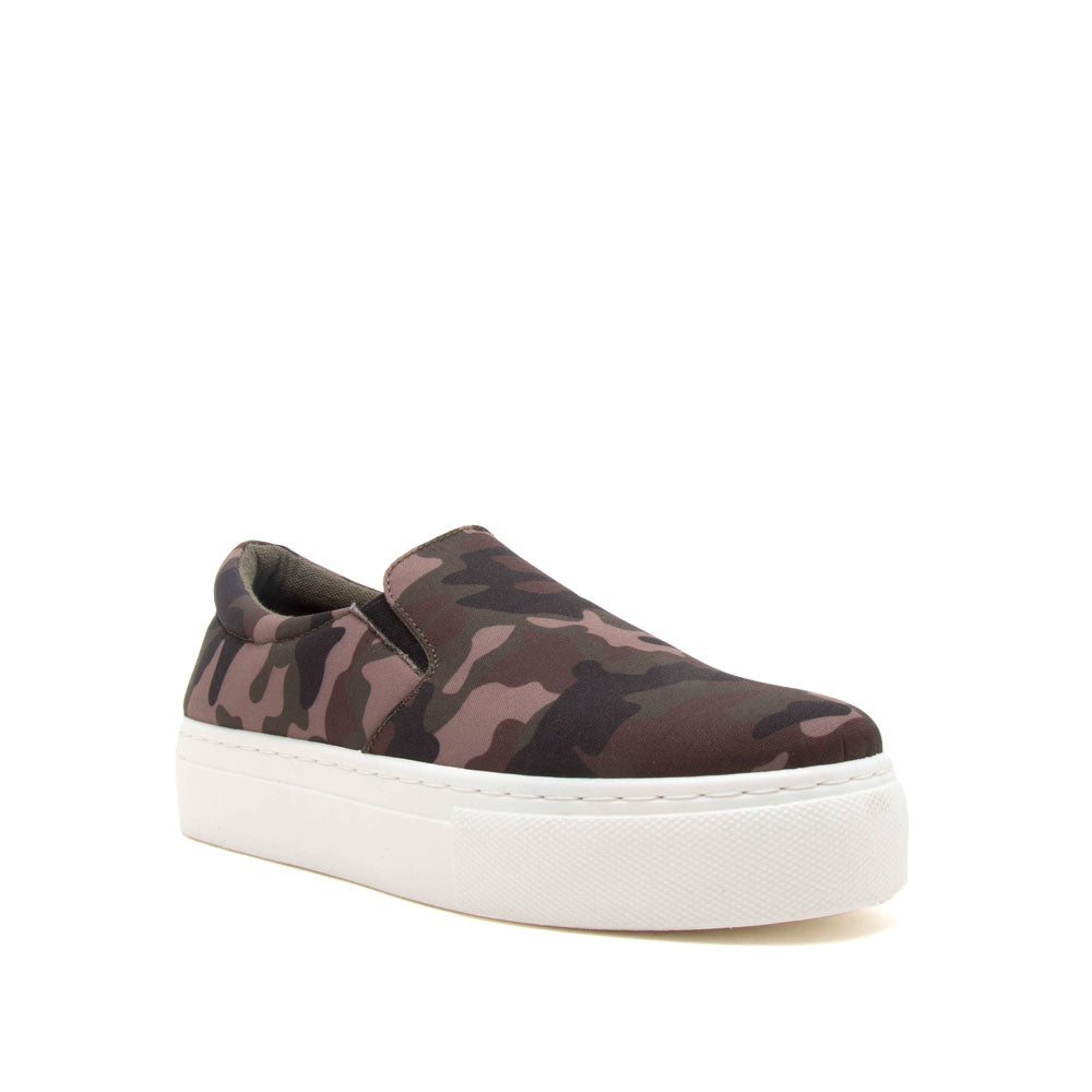 Royal-02C Khaki Camouflage Step In Sneakers