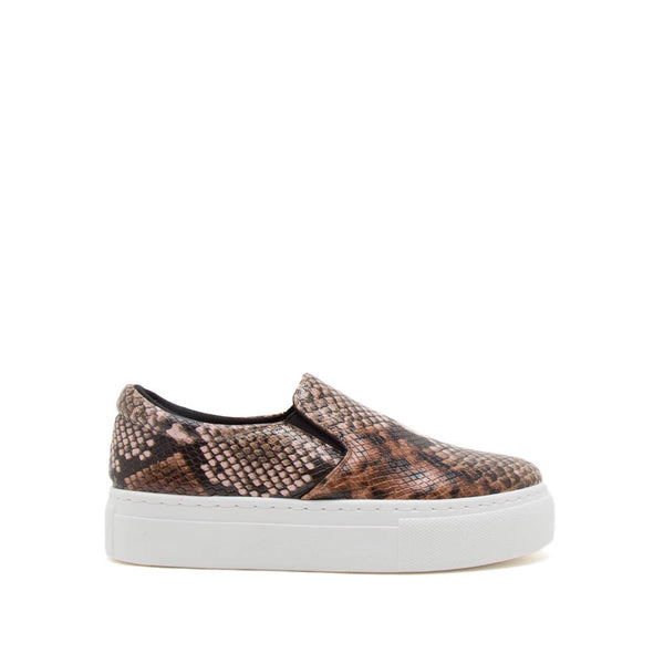 Royal-02C Light Brown Multi Snake Step In Sneakers