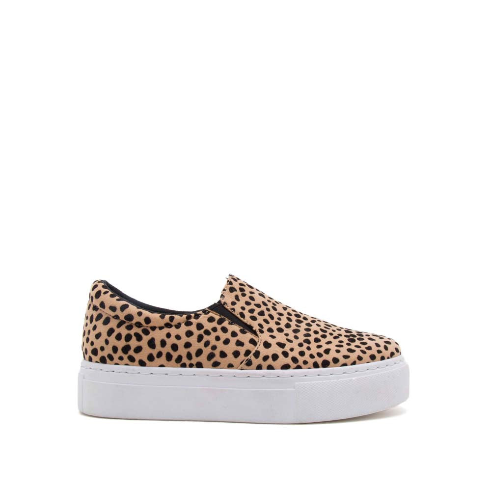 Royal-02C Tan Black Leopard Step In Sneakers