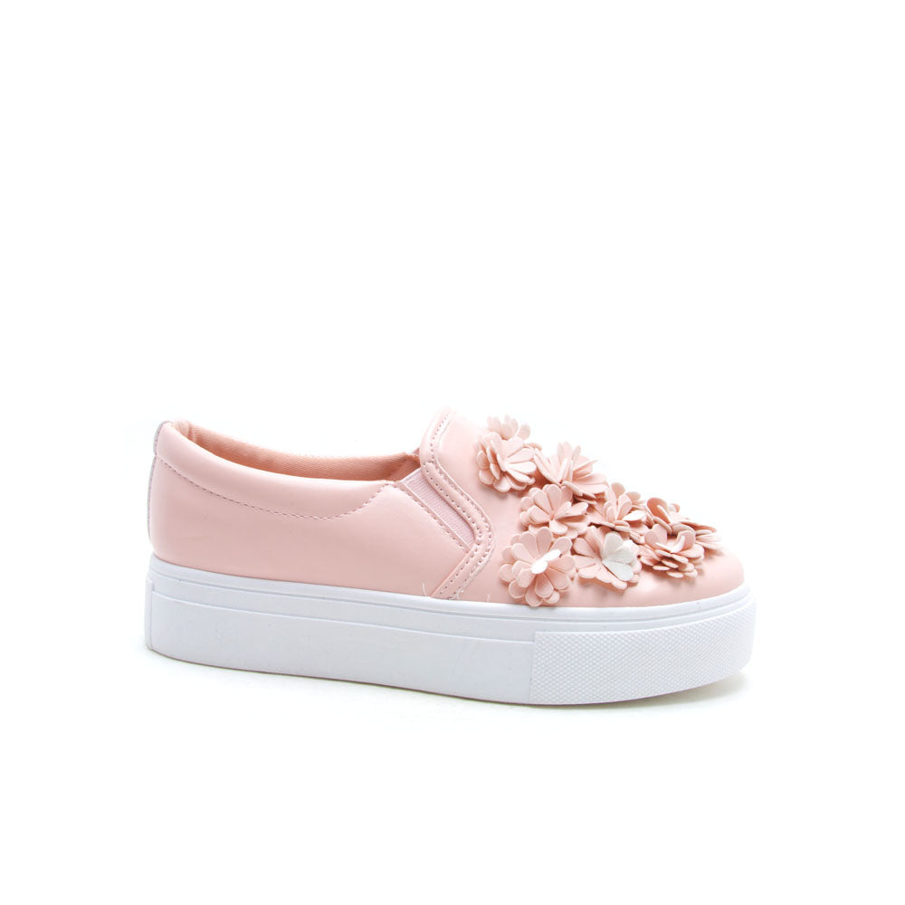 Royal-03A Blush Floral Applique Sneaker