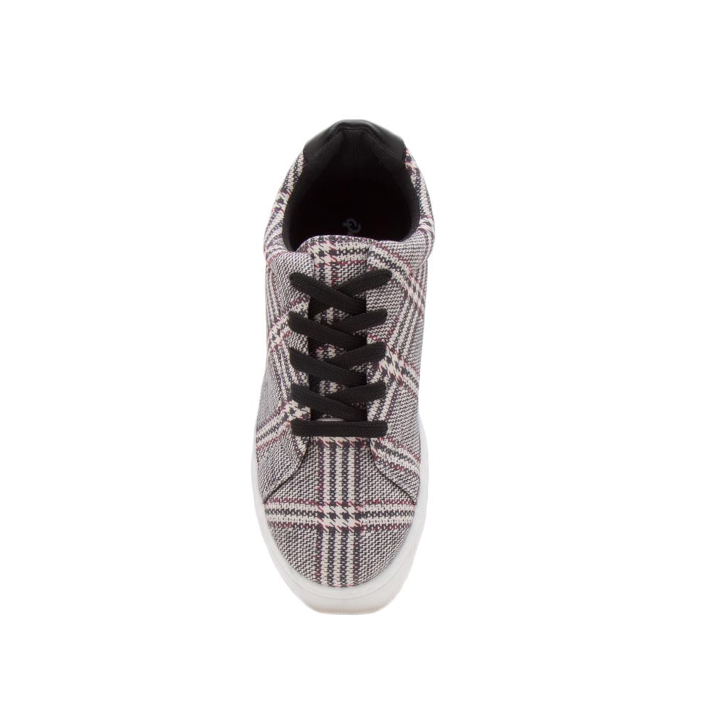 Royal-09A Black Stone Lace Up Sneakers