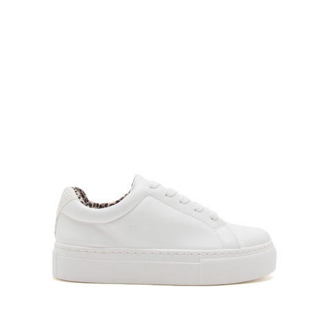 Royal-09A White Lace Up Sneakers