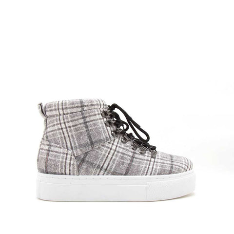 Royal-10AX Grey Multi Lace-Up High Top Sneakers