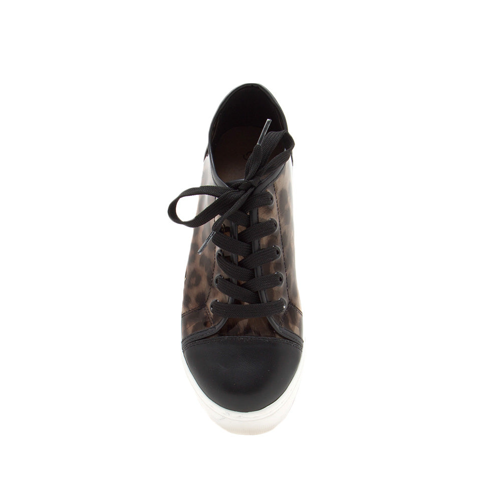Royal-17A Black Lace Up Sneakers