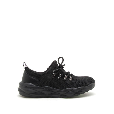 Ryder-01 Black Lace Up Sneakers