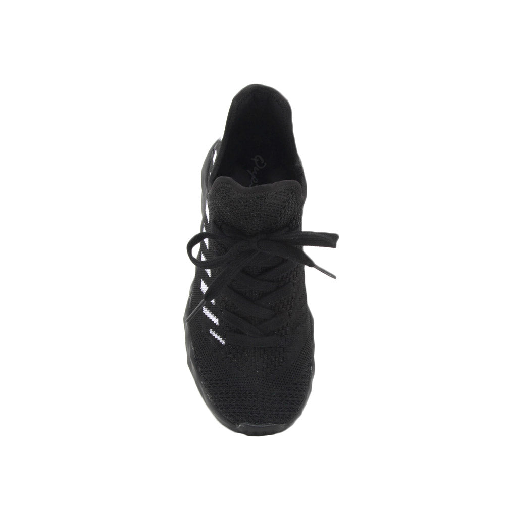 Ryder-02 Black Athletic Sneakers