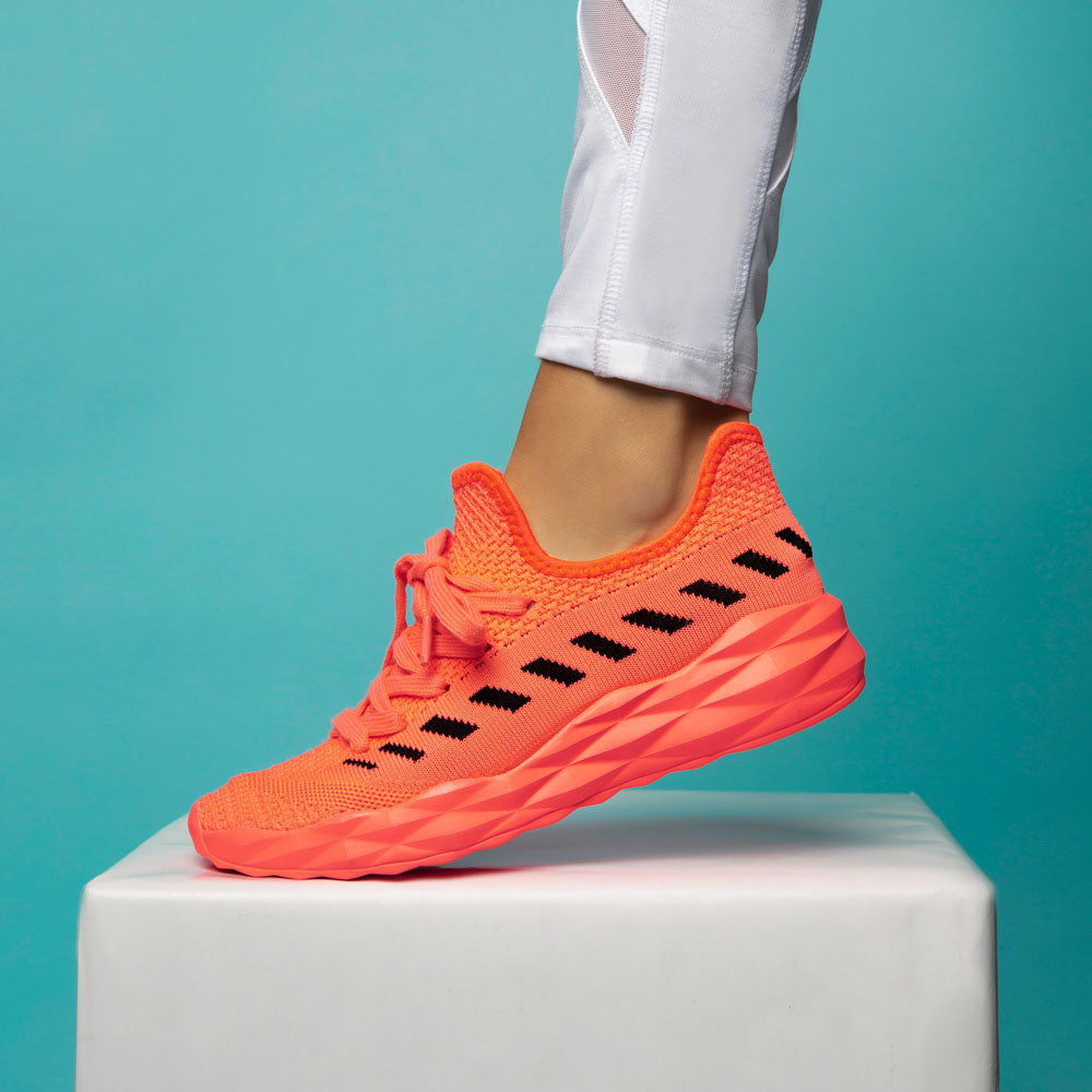 Ryder-02 Neon Coral Athletic Sneakers
