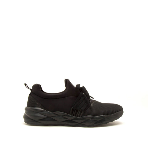 Ryder-04X Black Lace Up Sneakers