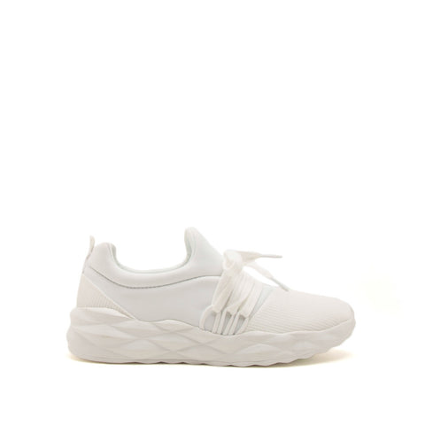 Ryder-04X White Lace Up Sneakers