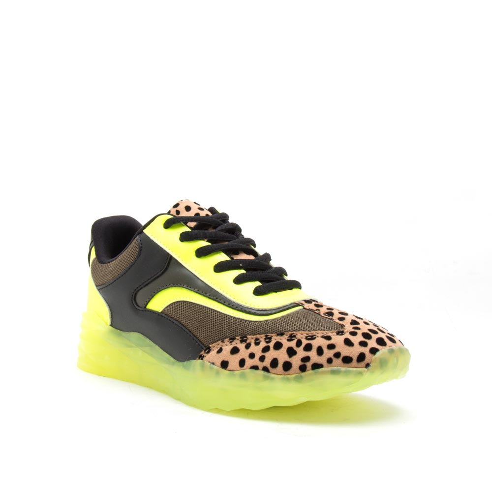 Ryder-05A Tan Black Leopard Sneakers