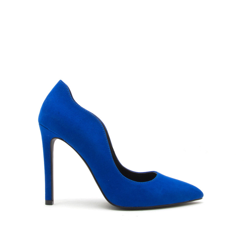 Sangria-20X Cobalt Blue Curved Pump