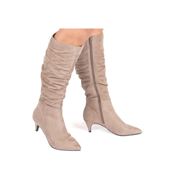 Saucy-09 Taupe Slouchy Boot