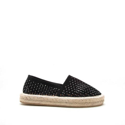 Sequoia-07 Black Perforated Ballerina