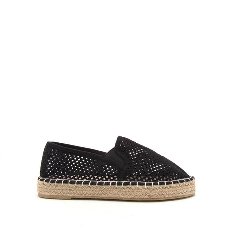 Sequoia-08X Black Perforated Ballerinas