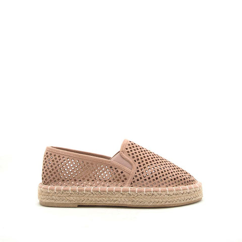 Sequoia-08X Warm Taupe Perforated Ballerinas