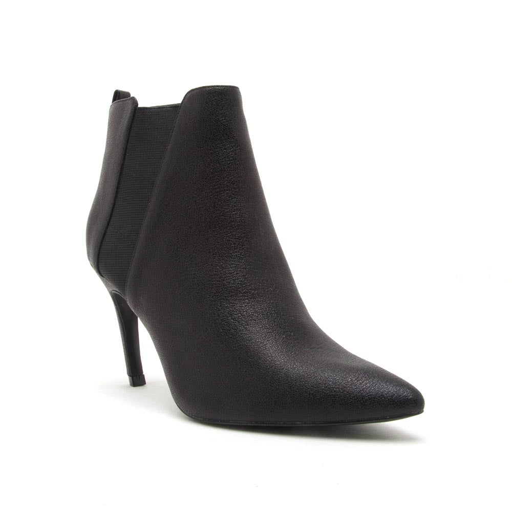 Shayla-15A Black Elastic Bootie
