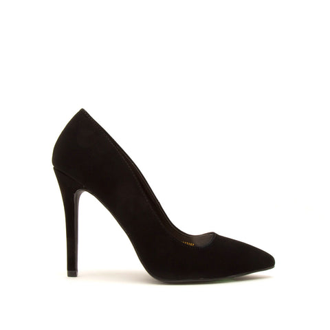 Show-01 Black Nubuck Pumps