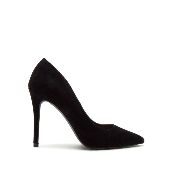 Show-01 Black Suede Pumps