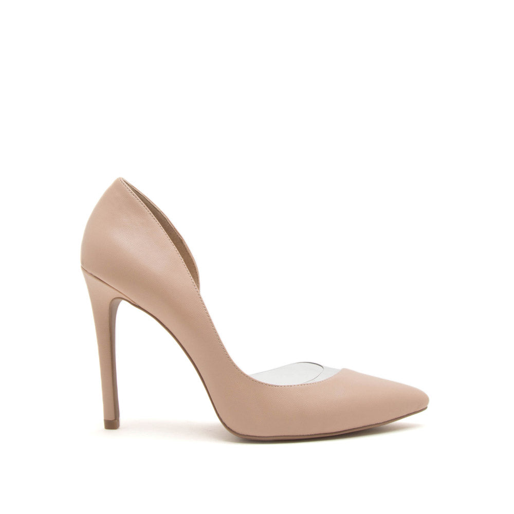Showoff-13 Blush Open D'Orsay Pumps