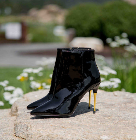 Showtime-01AX Black Dressy Bootie