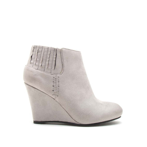 Sienna-14 Grey Wedge Booties